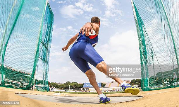 Dan Greaves of England during the mens discuss F4346 at Stadio Carlo Zechini on June 12 2016 in Grosseto Italy