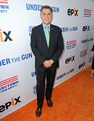 Dan Gross of The Brady Campaign attends the 'Under The Gun' LA premiere featuring Katie Couric and Stephanie Soechtig at Samuel Goldwyn Theater on...
