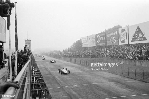 Dan Gurney Graham Hill Porsche 804 BRM P57 Grand Prix of Germany Nurburgring 05 August 1962