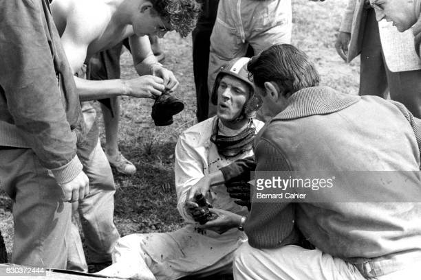 Dan Gurney Grand Prix of Netherlands Zandvoort 06 June 1960 A brake system failure caused a serious accident for Dan Gurney who suffered a broken arm...