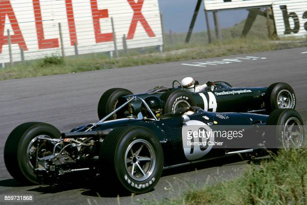 Dan Gurney Jackie Stewart EagleClimax Mk1 BRM P261 OR BRM P83 Grand Prix of the Netherlands Circuit Park Zandvoort July 24 1966