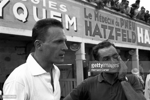 Dan Gurney Phil Hill Grand Prix of France ReimsGueux 05 July 1959 Dan Gurney and Phil Hill two American Ferrari drivers in 1959