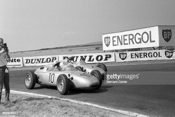Dan Gurney Porsche 787 OR Porsche 718/2 Grand Prix of France ReimsGueux 02 July 1961 Jo Bonnier dueling with teammate Dan Gurney in the 1961 French...