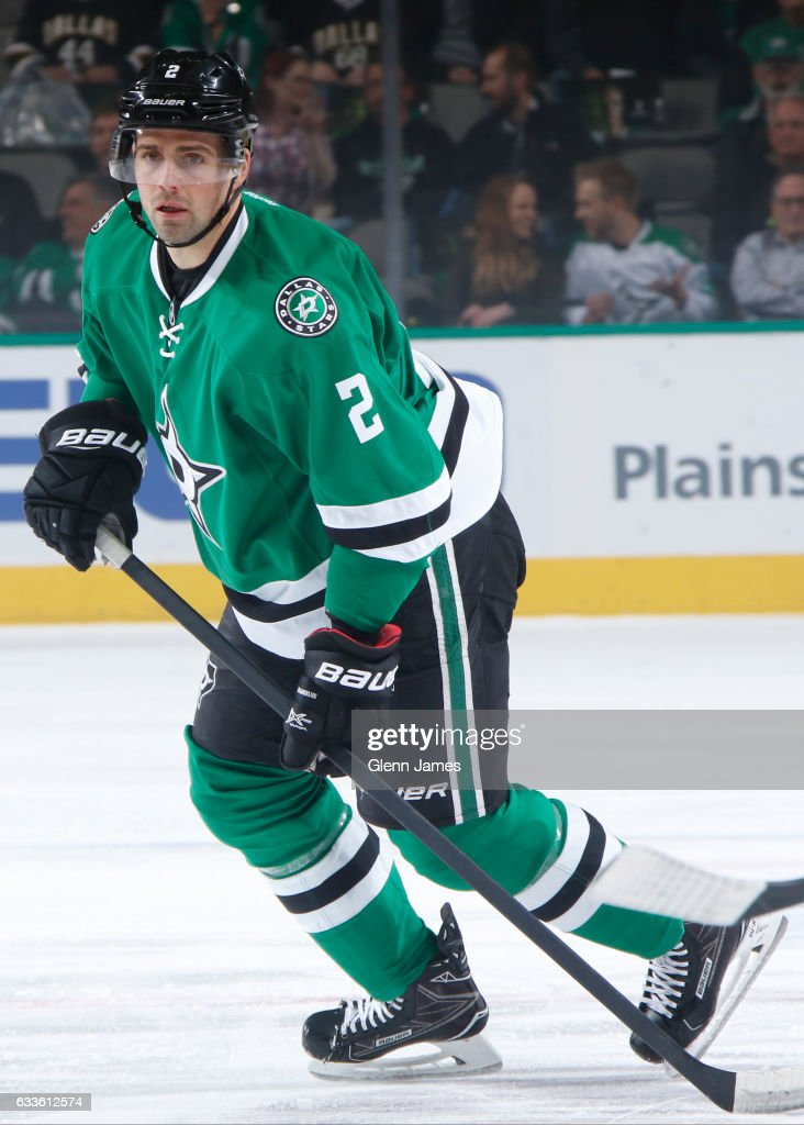 Dan Hamhuis #2 of the Dallas Stars skates against the Winnipeg Jets at the American Airlines Center on February 2, 2017 in Dallas, Texas.