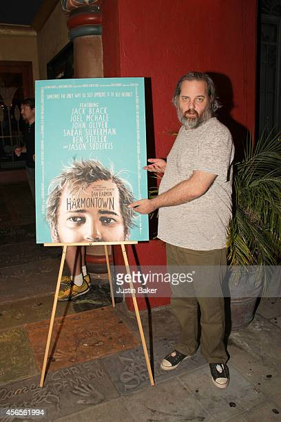 Dan Harmon attends the 'Harmontown' Los Angeles special screening at the Vista Theatre on October 2 2014 in Los Angeles California