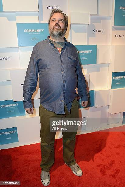 Dan Harmon attends Yahoo's 'Community' Greendale School Dance at SXSW 2015 on March 14 2015 in Austin Texas