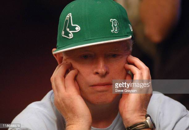 Dan Harrington studies the table during day six of the 2004 World Series of Poker at Binion's Horseshoe Club and Casino in Las Vegas Nevada May 27...