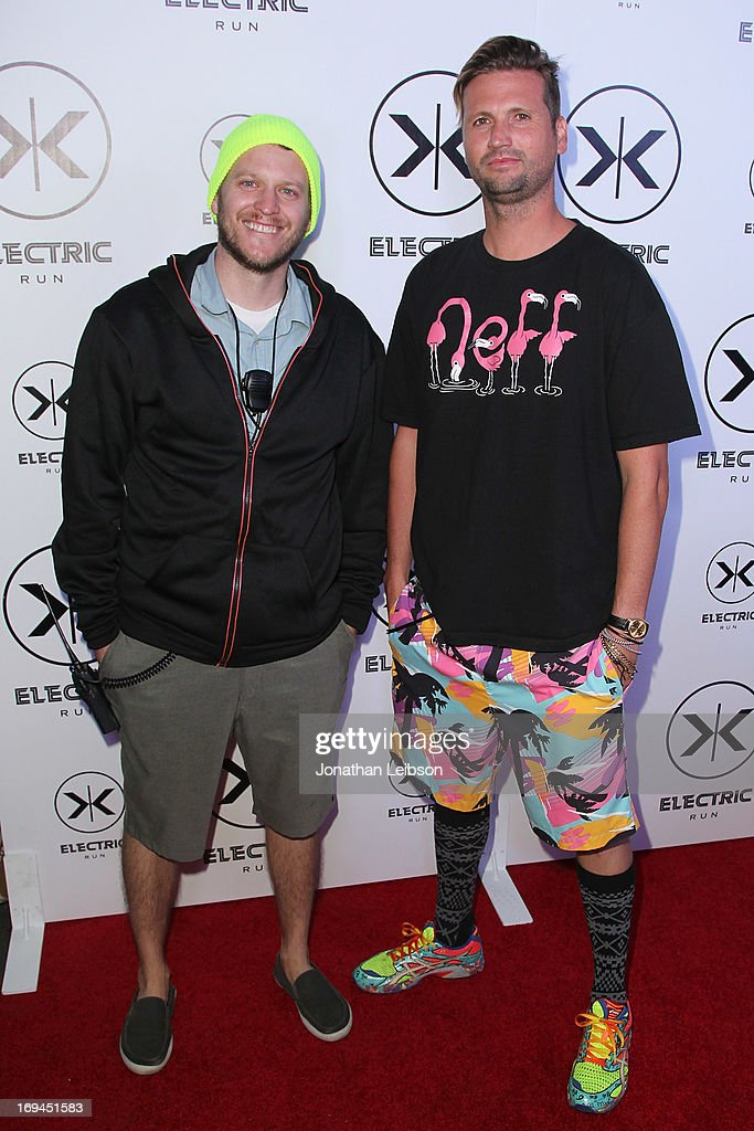 Dan Hill and Shaun Neff attend the Electric Run Los Angeles Hosted By Vanessa Hudgens at The Home Depot Center on May 24, 2013 in Carson, California.