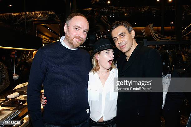 Dan Holdsworth MarieAmelie Seigner and Dragan Nikolic attend a cocktail party hosted by Moncler Paris in honor of the new Moncler Blackout Collection...