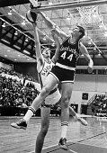 Dan Issel of the University of Kentucky blocks a shot during a game circa 1970 in Lexington Kentucky NOTE TO USER User expressly acknowledges and...