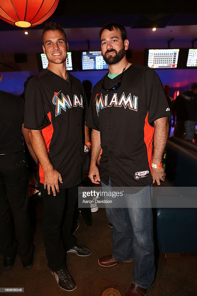 Dan Jennings, and Chris Hatcher attend The Miami Marlins Host 7th Annual BaseBowl at Lucky Strike Lanes on February 7, 2013 in Miami Beach, Florida.