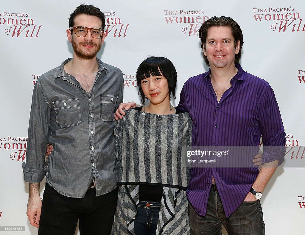 Dan Kluger, Valerie Bart and Les Dickert attend Tina Packer's 'Women of Will' cast photo call at The Gym at Judson on January 16, 2013 in New York City.