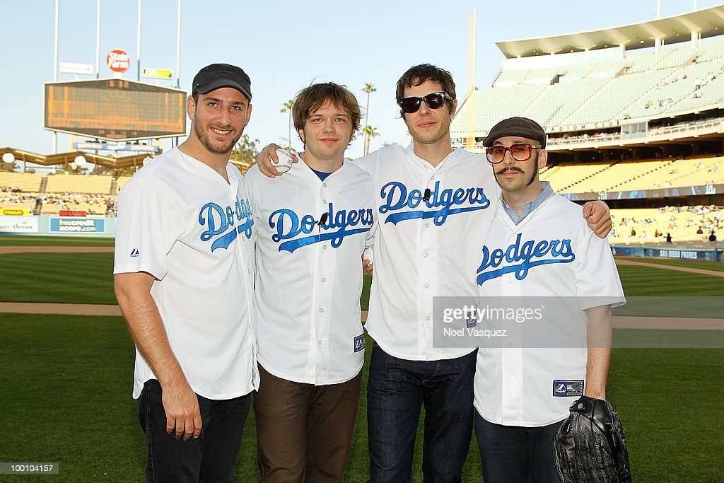 OK Go Throws Ceremonial First Pitch At Dodgers Stadium