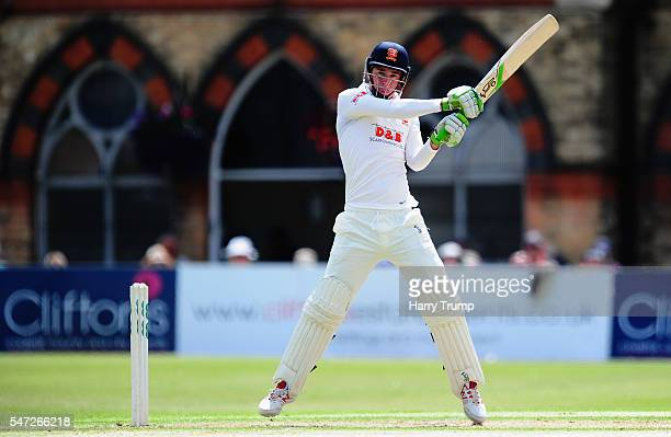 Dan Lawrence of Essex bats during Day Two of the Specsavers County Championship Division Two match between Gloucestershire and Essex at The College...