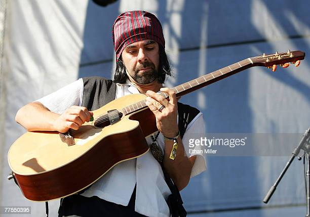 Dan Lebowitz of the band ALO performs during the Vegoose music festival at Sam Boyd Stadium's Star Nursery Field October 28 2007 in Las Vegas Nevada
