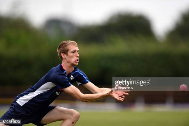Dan Levey of England warms up before the INAS Learning Disability TriSeries Trophy Final match between England and South Africa on July 21 2017 in...