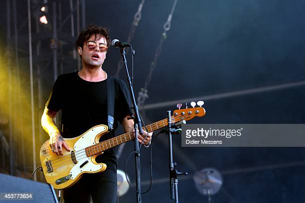Dan Logan of The Kooks performs on stage at Sziget Festival on August 17 2014 in Budapest Hungary