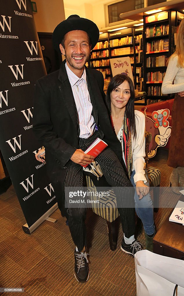 Dan Macmillan and Annabelle Neilson attend the launch of Annabelle Neilson's new children's books 'Dreamy Me' and 'Messy Me' at Waterstones, Piccadilly, on February 11, 2016 in London, England.