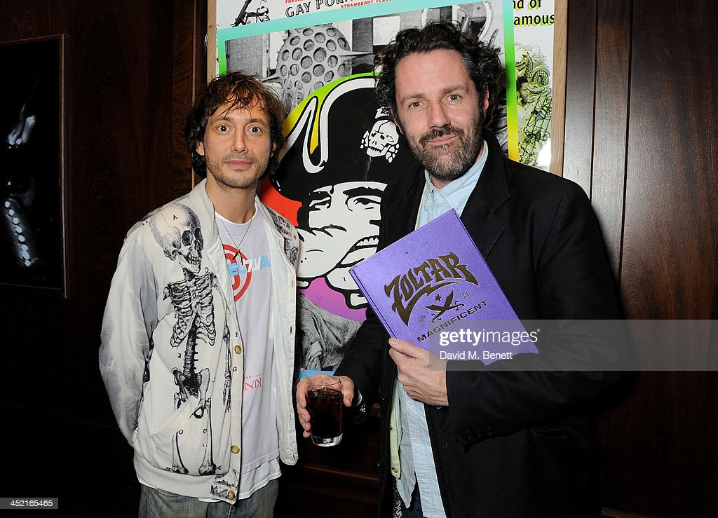 Dan Macmillan (L) and Kieron Livingstone attend the Project Zoltar 10th anniversary celebration and launch of Zoltar the Magnificent at The Groucho Club on November 26, 2013 in London, United Kingdom.