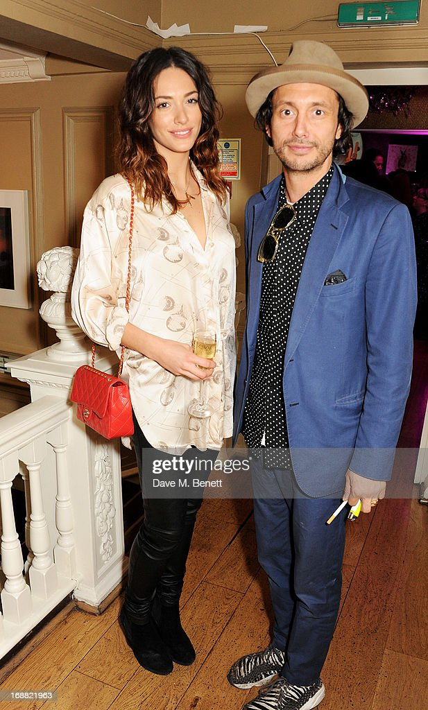 Dan Macmillan (R) attends the annual fundraising art auction in aid of Teenage Cancer Trust at The Groucho Club on May 15, 2013 in London, England.