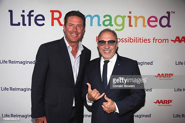Dan Marino and Emilio Estefan attend The Launch of AARP's 'Life Reimagined' hosted by Emilio Estefan and Dan Marino at La Bottega Trattoria at The...