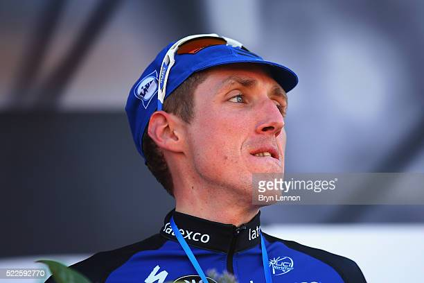 Dan Martin of Ireland and Etixx QuickStep looks on after finishing 3rd in the 80th La Fleche Wallonne from MarcheenFamenne to Huy on April 20 2016 in...