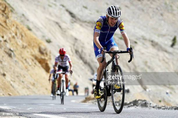 20 Dan Martin of Ireland and QuickStep Floors climbs the Col d'Izoard on stage eighteen of the 2017 Tour de France a 1795km stage from Briancon to...