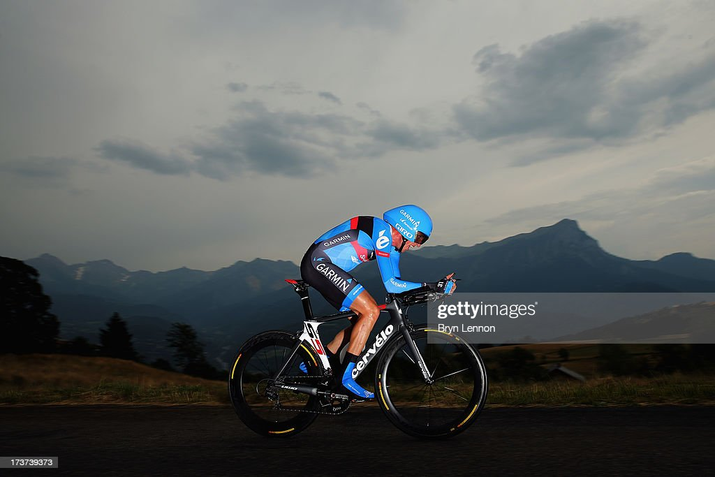 Dan Martin of Ireland and Team Garmin- Sharp in action during stage seventeen of the 2013 Tour de France, a 32KM Individual Time Trial from Embrun to Chorges, on July 17, 2013 in Chorges, France.