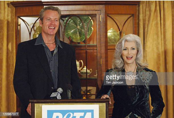 Dan Mathews of PETA and Emmylou Harris during Emmylou Harris Hosts PETA Press Conference for 'Unchain a Dog' Month January 20 2006 at The Hermitage...