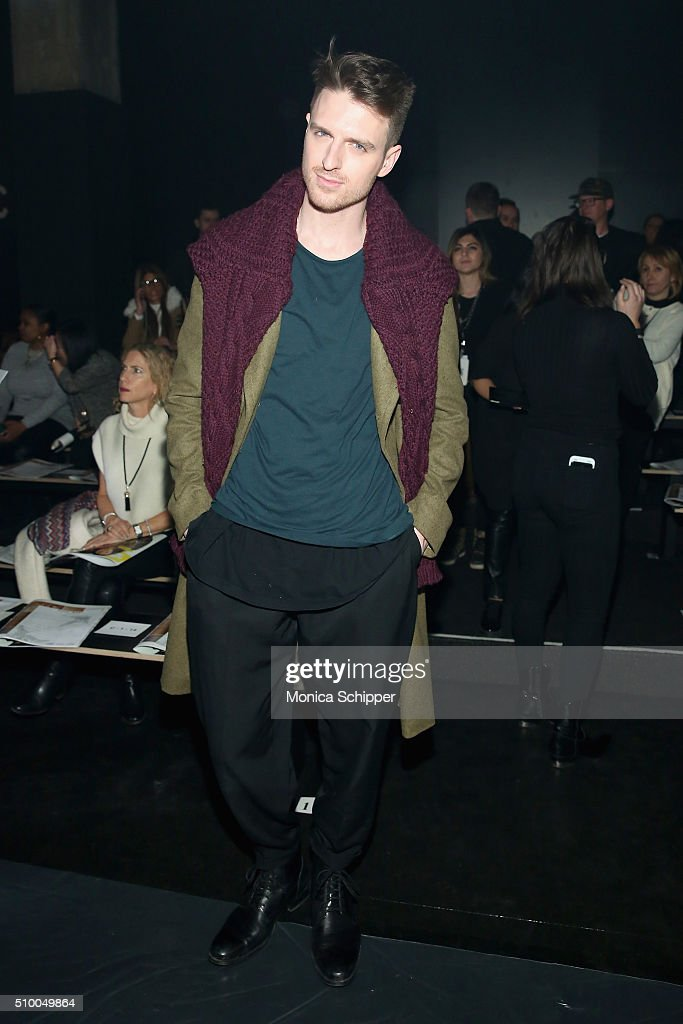 Dan 'Milk' Donigan attends the Baja East Fall 2016 fashion show during New York Fashion Week: The Shows at The Dock, Skylight at Moynihan Station on February 13, 2016 in New York City.