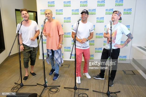 Dan Miller ErikMichael Estrada Trevor Penick and Jacob Underwood of the band OTown perform live on 'The Elvis Duran Z100 Morning Show' at Z100 Studio...