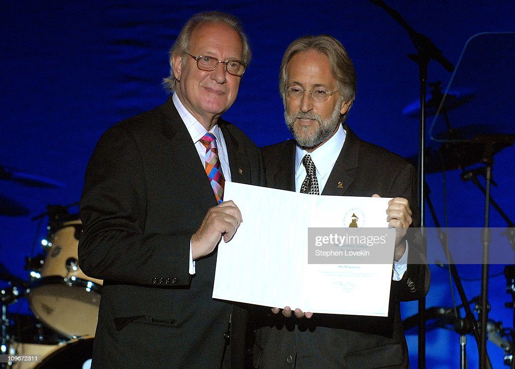Dan Morgenstern with GRAMMY Foundation and Recording Academy President Neil Portnow during the Recording Academy New York Chapter's Tribute to Bon...