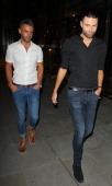Dan Neal and Rylan Clark at SUSHISAMBA restaurant on August 7 2013 in London England
