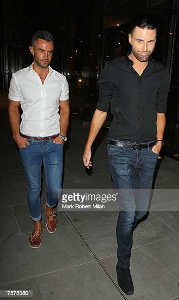 Dan Neal and Rylan Clark at SUSHISAMBA restaurant on August 7 2013 in London England
