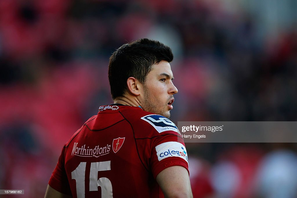 Dan Newton of Scarlets looks on during the Heineken Cup match between Scarlets and Exeter Chiefs at Parc y Scarlets on December 8, 2012 in Llanelli, Wales.
