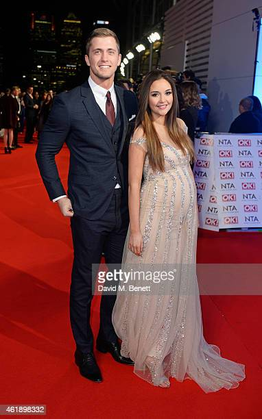 Dan Osborne and Jacqueline Jossa attend the National Television Awards at 02 Arena on January 21 2015 in London England