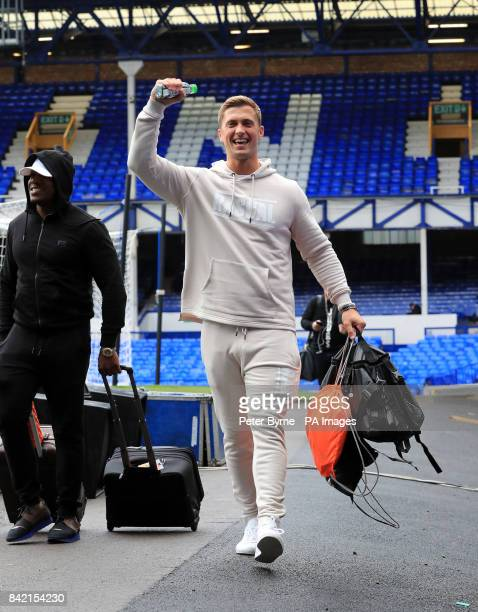 Dan Osborne arrives for the Bradley Lowery charity match at Goodison Park Liverpool PRESS ASSOCIATION Photo Picture date Sunday September 3 2017 See...