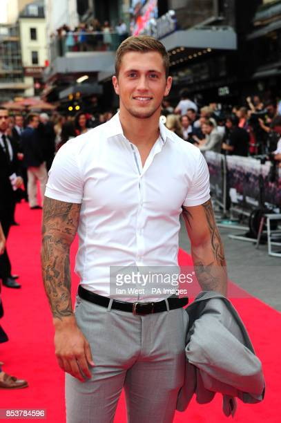Dan Osborne attending the premiere of new film the Expendables III at the Odeon Cinema in London