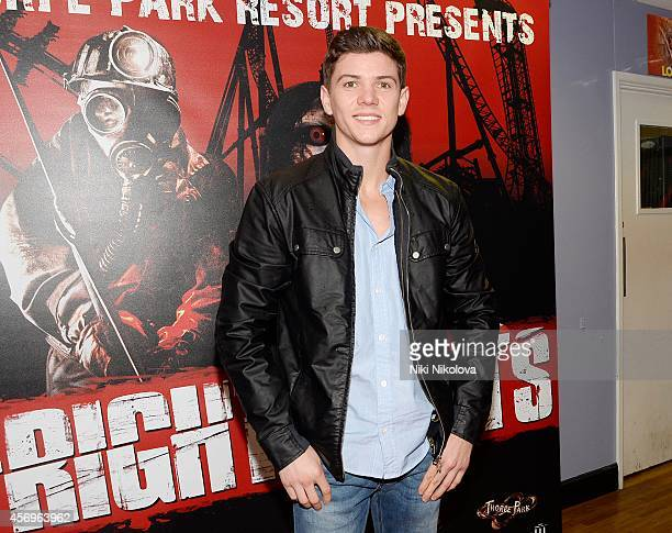 Dan Osborne attends Friday Night VIP Event held in at Thorpe Park on October 9 2014 in Chertsey England