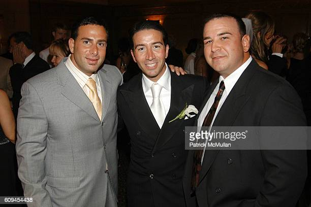 Dan Pancila Salvatore Strazzullo and Dave Fisch attend SALVATORE STRAZZULLO JODIE FANELLI Wedding Reception at Cipriani 42nd Street on June 9 2007 in...
