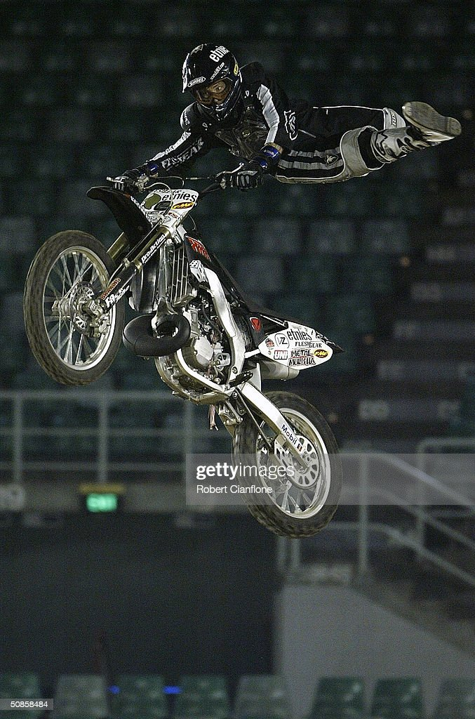 Dan Pastor in action during a media call for the Crusty Demons Nine Lives Tour May 20, 2004 at the Rod Laver Arena in Melbourne, Australia.