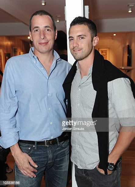 COVERAGE*** Dan Peres and Milo Ventimiglia attend an event celebrating the September issue of Details magazine at a private residence on August 10...