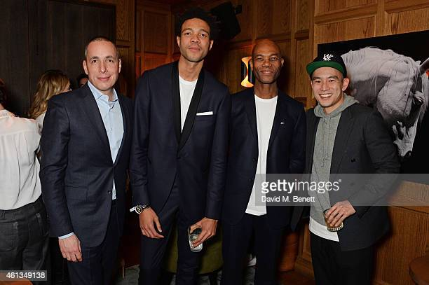 Dan Peres Details Magazine EditorinChief Charlie CaselyHayford Joe CaselyHayford and Eugene Tong Detail Magazine Style Director attend as Details x...