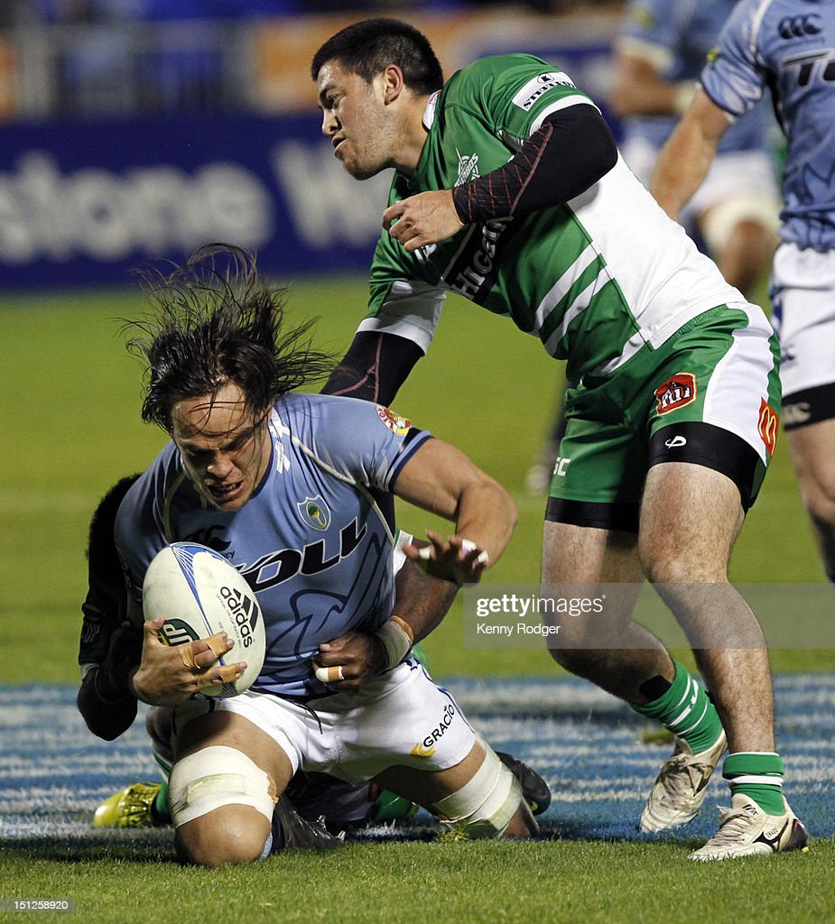 Dan Pryor of Northland is taken to ground during the round four ITM Cup match between Northland and Manawatu at Toll Stadium on September 5, 2012 in Whangarei, New Zealand.