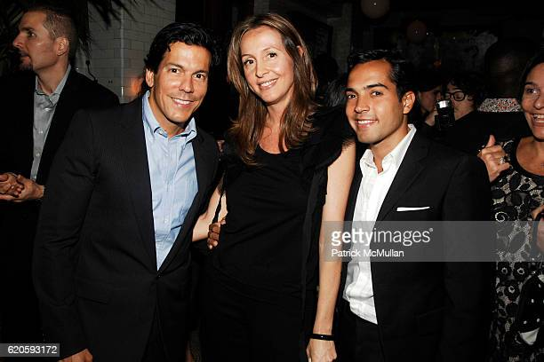 Dan Ragone Amalia Spinardi and Daniel Urzedo attend Private Dinner hosted by CARLOS JEREISSATI CEO of IGUATEMI at Pastis on September 6 2008 in New...