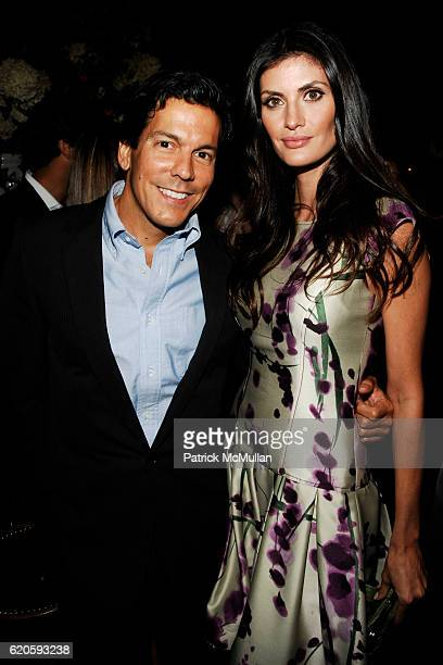 Dan Ragone and Isabella Fiorentino attend Private Dinner hosted by CARLOS JEREISSATI CEO of IGUATEMI at Pastis on September 6 2008 in New York City