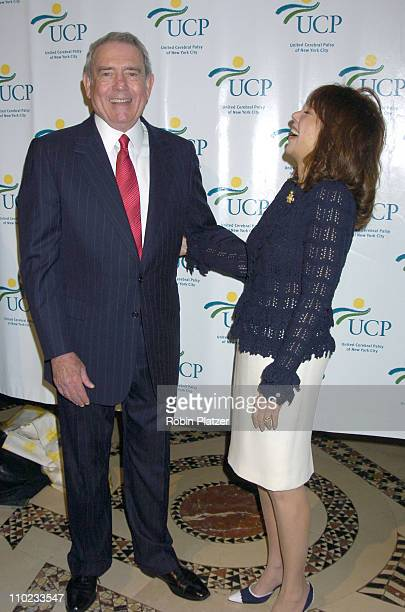 Dan Rather and Marlo Thomas during United Cerebral Palsy Fourth Annual 'Women Who Care' Luncheon at Ciprianis 42nd Street in New York City New York...