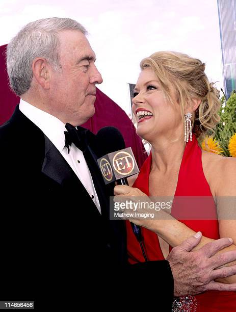 Dan Rather and Mary Hart during 57th Annual Primetime Emmy Awards Entertainment Tonight Red Carpet at The Shrine in Los Angeles California United...