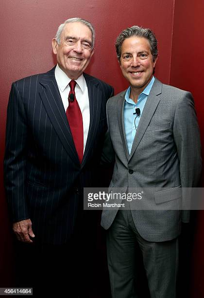 Dan Rather and Roy Sekoff attend The Newsmen Changing Dynamics of Media Tech and Journalism panel during AWXI on September 30 2014 in New York City
