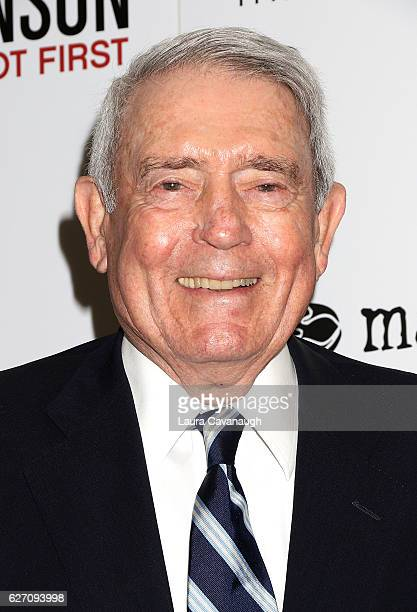 Dan Rather attends Magnolia Pictures The Cinema Society host the premiere of 'Harry Benson Shoot First' at the Beekman Theatre on December 1 2016 in...